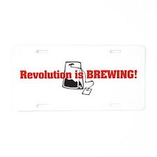 Tea Party Revolution Aluminum License Plate