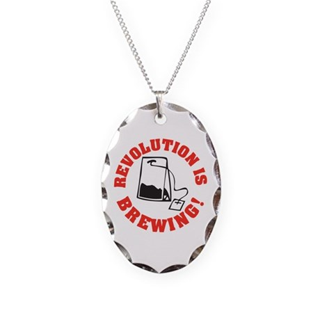 Tea Party Revolution Necklace Oval Charm