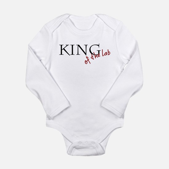 Unique King lab Long Sleeve Infant Bodysuit