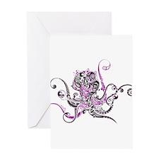 PURPLE OCTOPUS Greeting Card