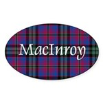 Tartan - MacInroy Sticker (Oval)