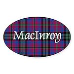 Tartan - MacInroy Sticker (Oval 50 pk)