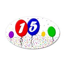 15th Birthday 22x14 Oval Wall Peel
