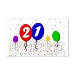 21st Birthday Car Magnet 20 x 12
