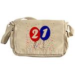 21st Birthday Messenger Bag