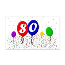 80th Birthday Car Magnet 20 x 12