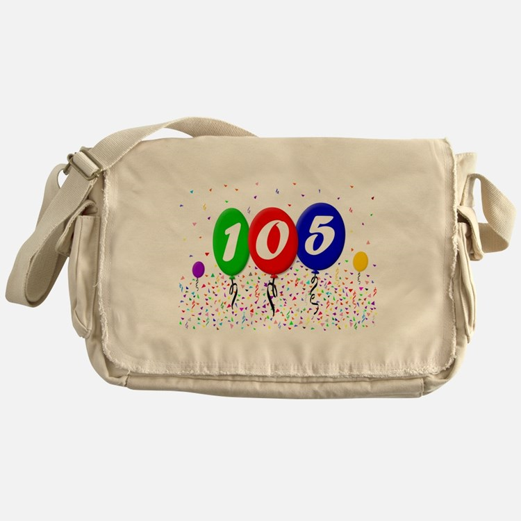 105th Birthday Messenger Bag