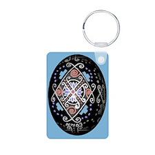 Pop Art Pysanka Keychains