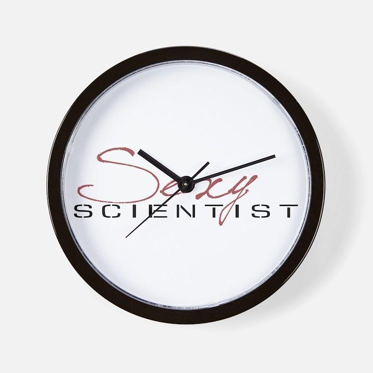 Cute Sexy scientist Wall Clock