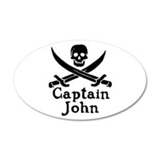 Captain John 22x14 Oval Wall Peel