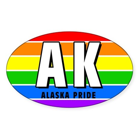 Alaska Pride Oval Sticker
