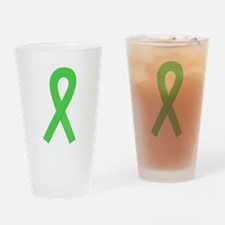 Lime Ribbon Drinking Glass