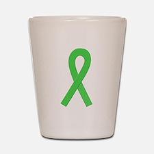 Lime Ribbon Shot Glass