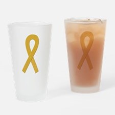 Gold Ribbon Drinking Glass
