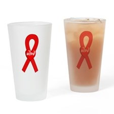 Red Hope Drinking Glass