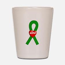 Green Hope Shot Glass