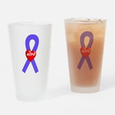 Periwinkle Hope Drinking Glass