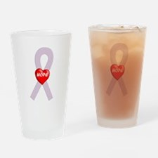 Orchid Hope Heart Drinking Glass