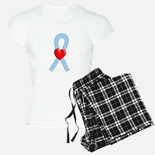 Lt Blue Ribbon Pajamas