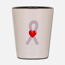 Orchid Ribbon Heart Shot Glass