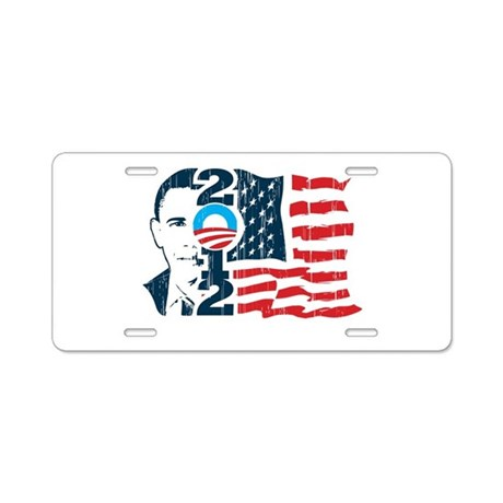 Barack Obama Aluminum License Plate