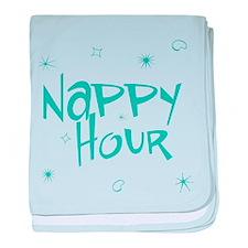 Happy Nappy Hour baby blanket