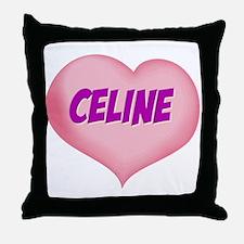 celine heart Throw Pillow