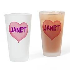 janet heart Drinking Glass