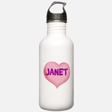 janet heart Water Bottle