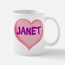 janet heart Mug