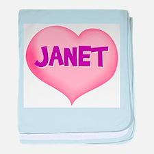 janet heart baby blanket