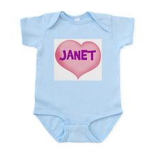 janet heart Infant Bodysuit