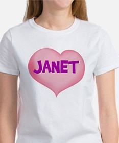 janet heart Women's T-Shirt