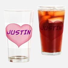 justin heart Drinking Glass