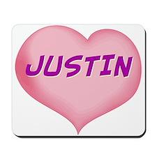 justin heart Mousepad