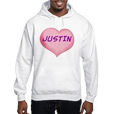justin heart Hoodie