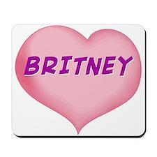 britney heart Mousepad