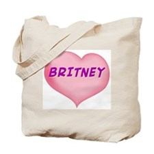 britney heart Tote Bag