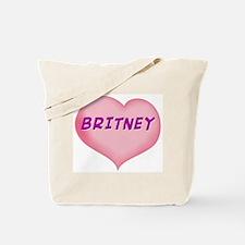 britney heart Tote Bag