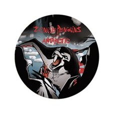 "Zombie Penguin 3.5"" Button"