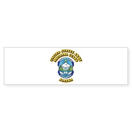 Army National Guard - Alaska Sticker (Bumper)