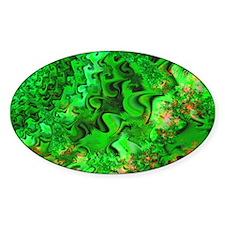 """""""Glitter 6"""" Fractal Art Oval Decal"""