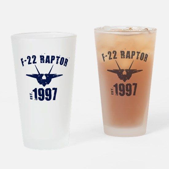 Varsity F-22 1997 Drinking Glass