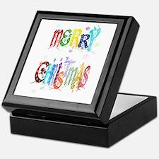 Colorful Merry Christmas Keepsake Box