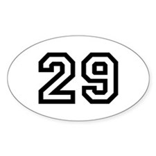 Number 29 Oval Decal