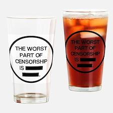 Cute Censorship Drinking Glass