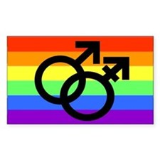 Gay Transman Rainbow Decal