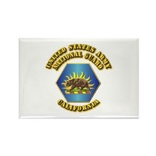Army National Guard - California Rectangle Magnet
