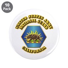 "Army National Guard - California 3.5"" Button (10 p"