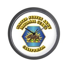 Army National Guard - California Wall Clock